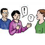 Eltern im Gespräch mit der Kita